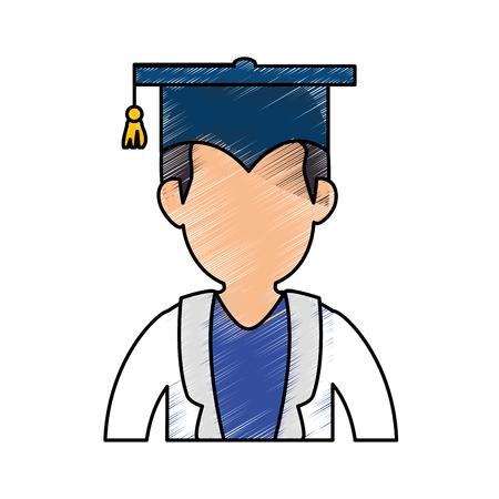 Graduation chapeau symbole icône vecteur illustration graphique Banque d'images - 78178509