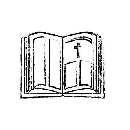 Heilige bijbel open pictogram vector illustratie grafisch ontwerp Stockfoto - 78178530