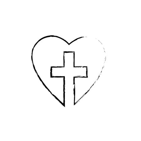 Christian cross symbol icon vector illustration graphic design