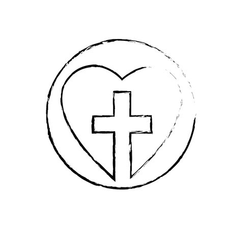 Christian cross symbol icon vector illustration graphic design Reklamní fotografie - 78178535