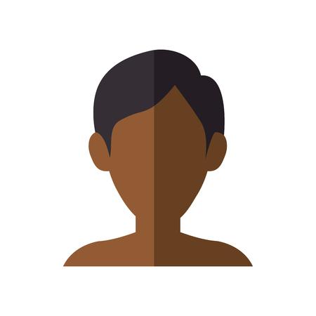 Diseño gráfico del ejemplo del vector del icono del perfil del hombre joven Foto de archivo - 78180302