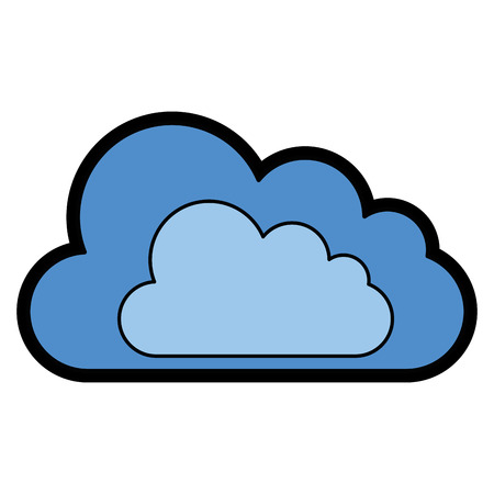 cloud icon over white background. vector illustration Illustration