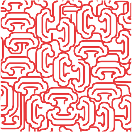 red background with  irregular shapes. vector illustration design Çizim