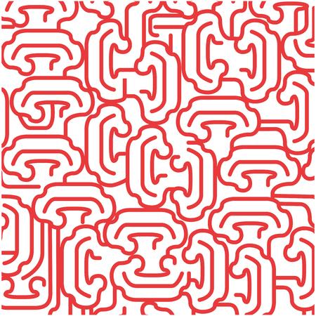 red background with  irregular shapes. vector illustration design Illustration