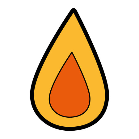 fire flame icon over white background. colorful design. vector illustration Illustration
