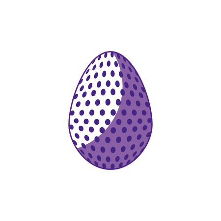 easter egg icon over white background. vector illustration Illustration