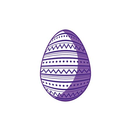 easter egg icon over white background. vector illustration Illustration