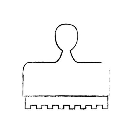 stamp icon over white background. vector illustration Ilustração