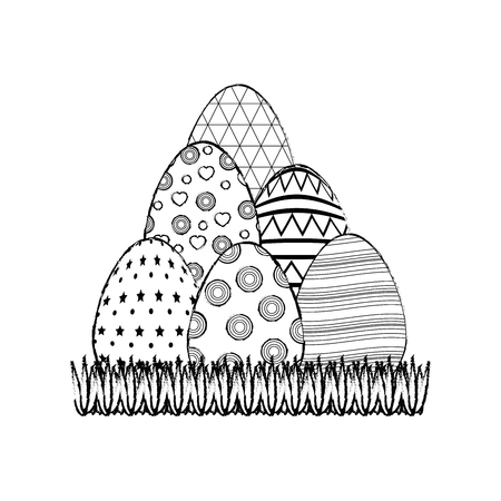 easter eggs icon over white background. vector illustration Illustration