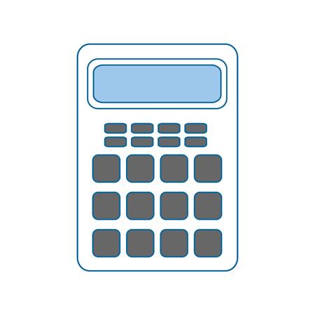 calculator device icon over white background. vector illustration Illustration