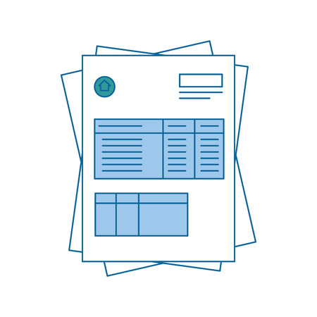 bill page icon over white background. vector illustration