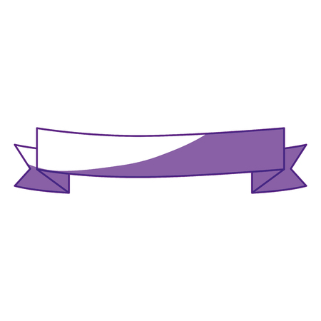 decorative ribbon icon over white background. vector illustration Stock Vector - 78184740
