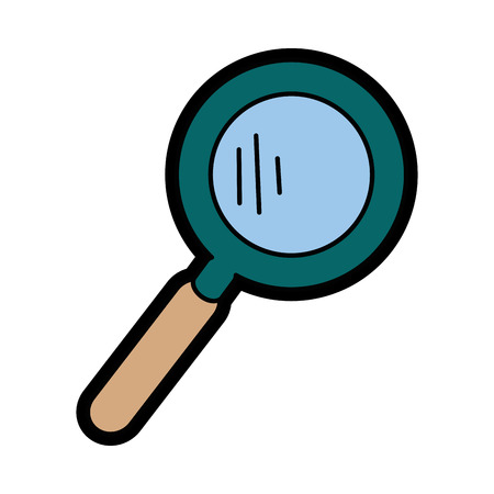 magnifying glass icon over white background. colorful design. vector illustration Stock Vector - 78184834