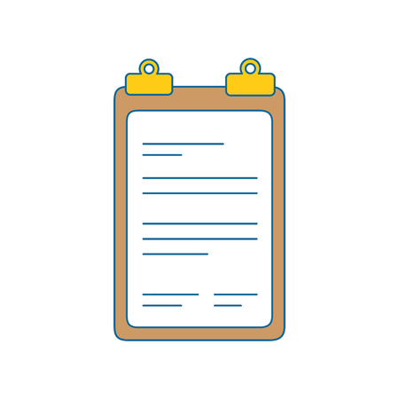 report table icon over white background. vector illustration