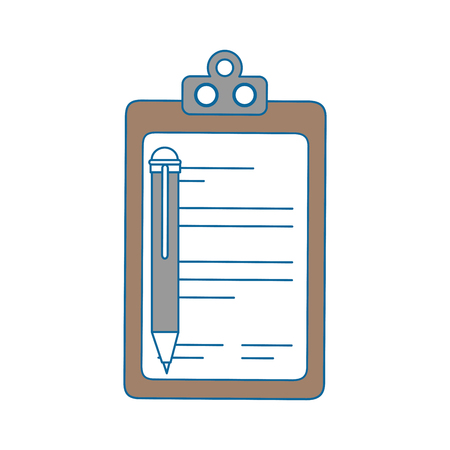 report table and pen icon over white background. vector illustration Illustration