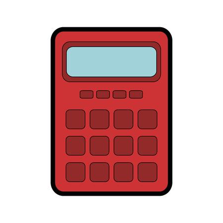 addition: calculator device icon over white background. vector illustration Illustration
