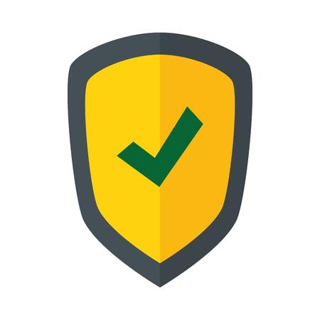 shield safe secure icon vector illustration design