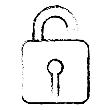 safe secure padlock icon vector illustration design Фото со стока - 78187748