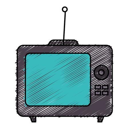old tv retro icon vector illustration design Reklamní fotografie - 78187433