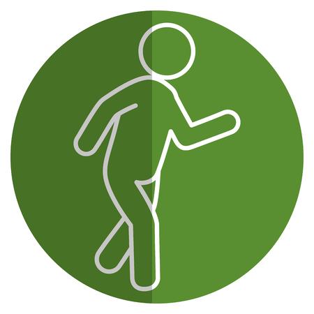 Menselijke figuur silhouet icoon vector illustratie ontwerp
