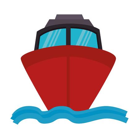 ship cruise isolated icon vector illustration design Illustration