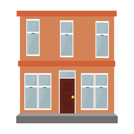 building exterior isolated icon vector illustration design Ilustrace