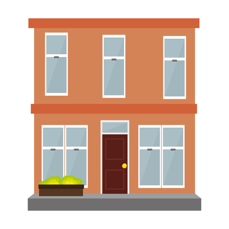penthouse: building exterior isolated icon vector illustration design Illustration