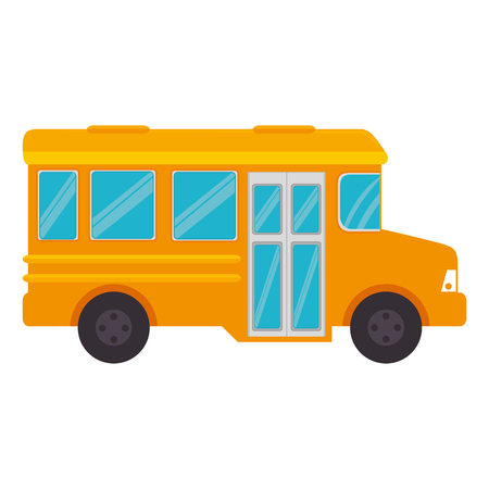 schoolbus: bus school isolated icon vector illustration design
