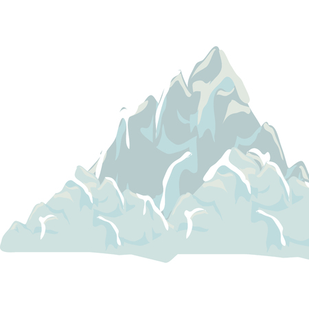 big mountain isolated icon vector illustration design