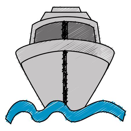 ship cruise isolated icon vector illustration design Stock Photo