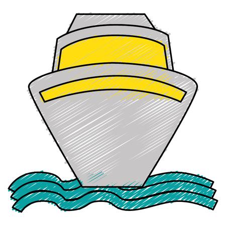 ship cruise isolated icon vector illustration design Фото со стока