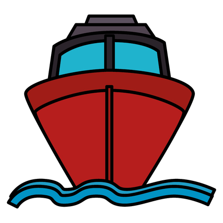 ship cruise isolated icon vector illustration design 版權商用圖片