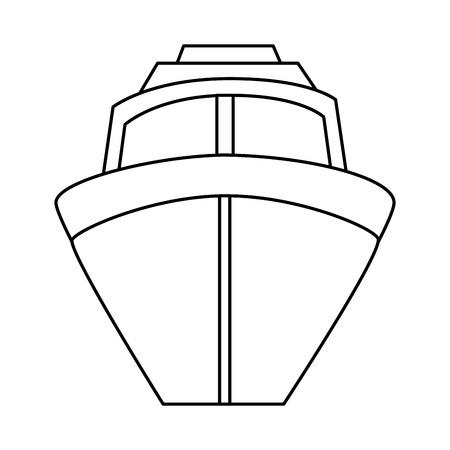 分離されたクルーズ アイコン ベクトル イラスト デザインを出荷します。  イラスト・ベクター素材