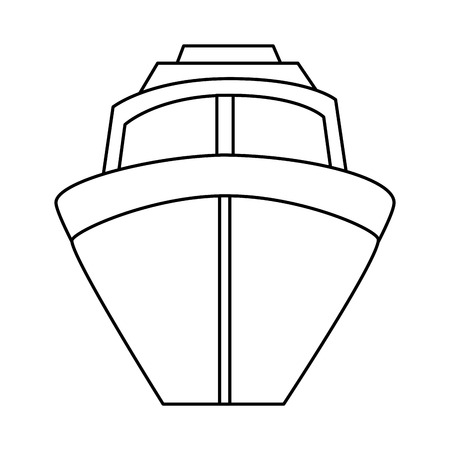ship cruise isolated icon vector illustration design Çizim