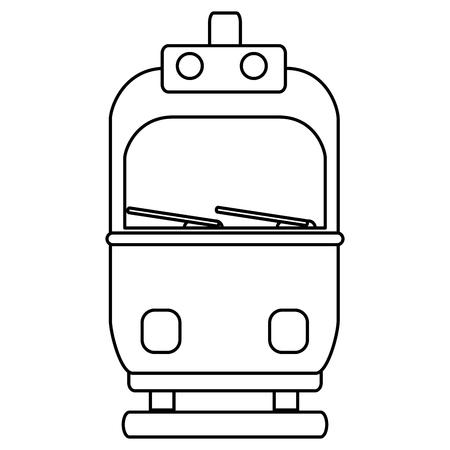 tram transport isolated icon vector illustration design