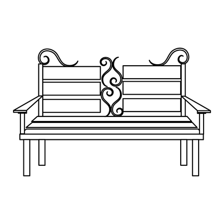 antique furniture: chair park isolated icon vector illustration design
