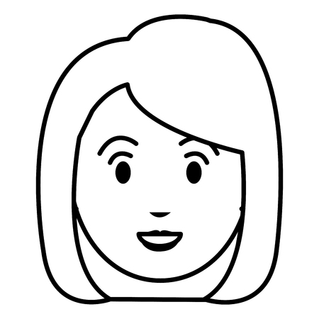 beautiful and young woman head vector illustration design Stock Vector - 78236407
