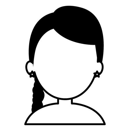Jeune femme avatar avatar caractère conception vecteur illustration Banque d'images - 78236414