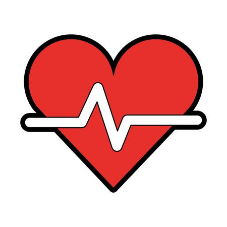 Cardiology heart beat vector illustration graphic design Иллюстрация