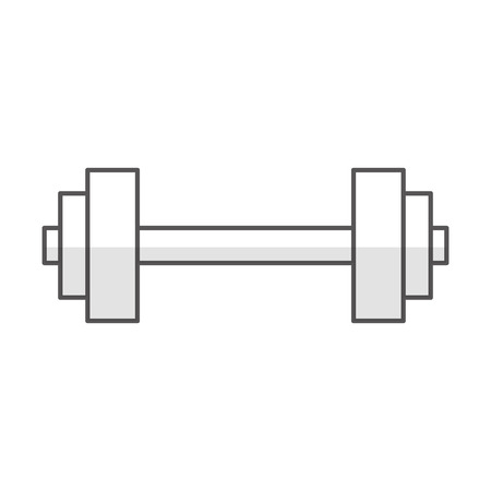 Gym dumbbell weight vector illustration graphic design Illustration