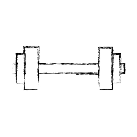 Gym dumbbell weight vector illustration graphic design Stock Vector - 78240037