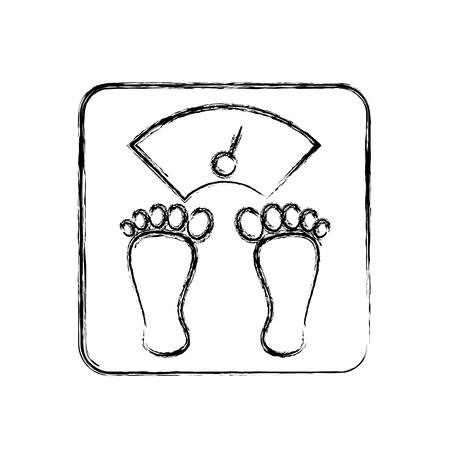 Gewicht body balance vector illustratie grafisch ontwerp Stock Illustratie