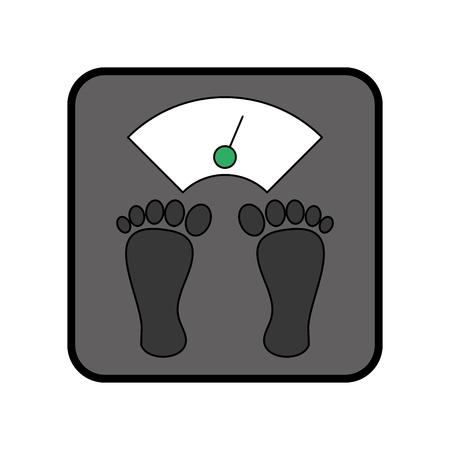 Weight body balance vector illustration graphic design Ilustração
