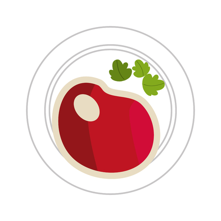 delicious healthy food dishes vector illustration graphic design