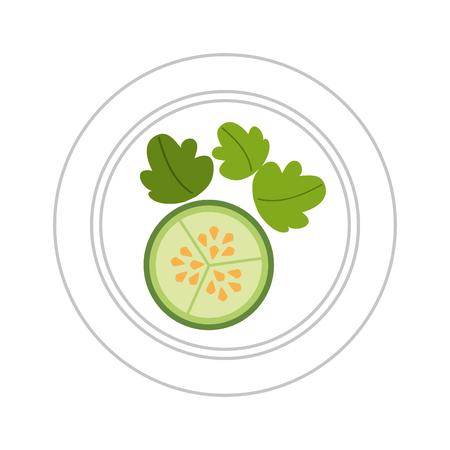 健康的なベジタリアン料理ベクトル イラスト グラフィック デザイン