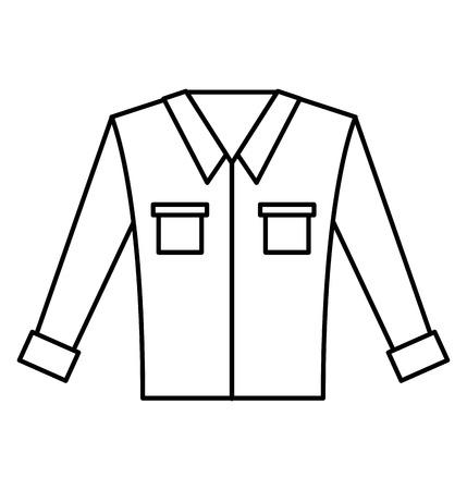 Mens met lange mouwen vector illustratie grafisch ontwerp