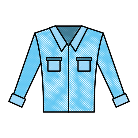 Mens long-sleeved shirt vector illustration graphic design Illustration