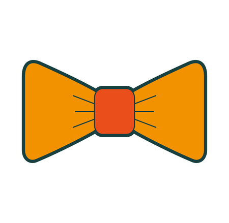 isolated fancy bowtie vector illustration graphic design