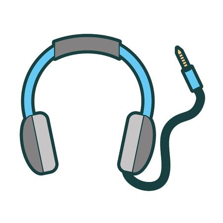isolated headphones icon vector illustration graphic design