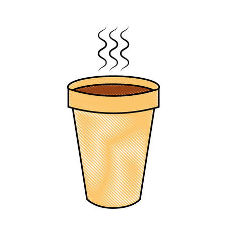 isolated hot coffe cup vector illustration graphic design